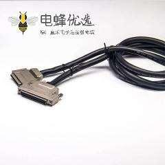 68Pin SCSI线HPCN公头转VHDCI型68芯公头双边线锌合金外壳组装线2米