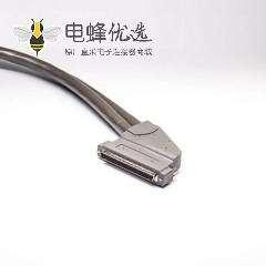 SCSI 100芯HPDB型公转HPDB100芯弯公头注塑成型线2米