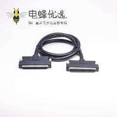 SCSI 接口线HPCN型68芯公转HPCN型68芯SCSI按键式成型注塑线2米