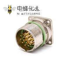 M系列连接器 M623 17芯直式公母四孔法兰防水插座