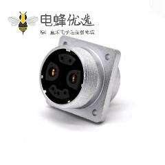 7P插座P32母头直式4孔法兰连接器