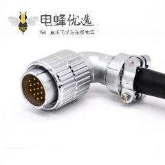 弯式电缆插头P32 19芯公头接线连接器