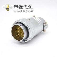 20芯插头 P40公头直式接线插头