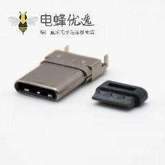 typeC接口3.1沉板公头双贴直式24芯连接器