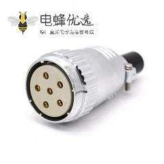 5芯插头P40直式圆形母头接线电缆连接器