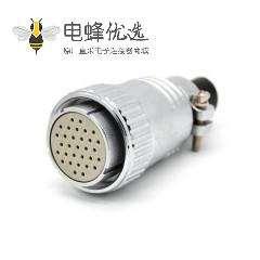 直式插头P40 31芯母头圆形接线电缆连接器