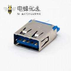 USB3.0 A型母头9芯直式焊接式无卷边连接器