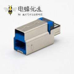 USB b型连接器3.0直式9芯公头焊接式接线一体式
