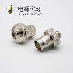 SMA不锈钢接头高频母头面板两孔法兰安装对讲机接头