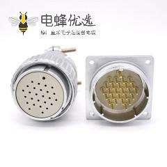 母头插头P48 27芯公插座直式一对连接器