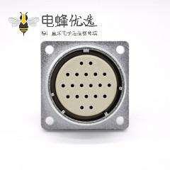母头插座P48 20芯直式四孔法兰连接器