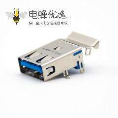 Type A接口USB3.0 9芯母头贴板安装连接器