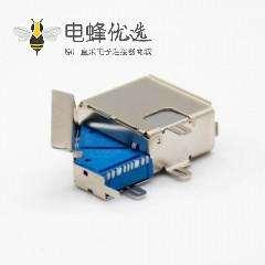 usb3.0 主板接口A型9芯母头侧立式双层铁壳面板安装连接器