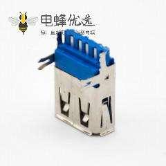 USB3.0母座A型母头9芯焊线直式带鱼叉脚