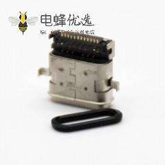 typeC口3.1沉板式插孔式贴板式24芯直式防水连接器