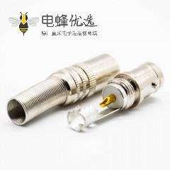 BNC接线母头直式接线RG59焊杯卡口连接连接器