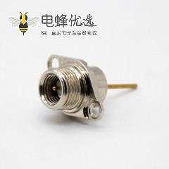 SMA内针SMA母头面板两孔法兰安装对讲机接头