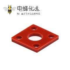 4孔SMA法兰硅胶防水垫片