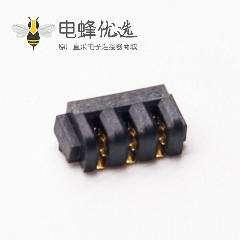 3P电池连接器2.0MM间距双面接触母电池座