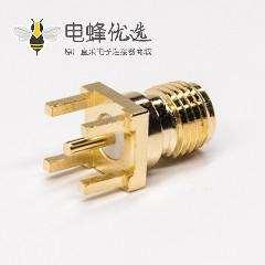 sma射频同轴连接器母头pcb直插板端