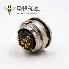 6芯插座M16板端插座A扣母头直式后锁板接线传感器连接器