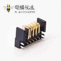 弯式连接器2.0MM间距5芯公头电池座
