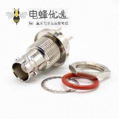 BNC接头防水母头直式标准75ΩPCB板安装插孔镀镍连接器
