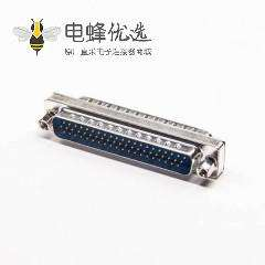 D-Sub高密度连接器180°金属62芯公转公转接头