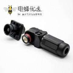 防水大电流连接器公母插座插头直弯对接黑色8mm单芯塑料200A铜牌连接IP67