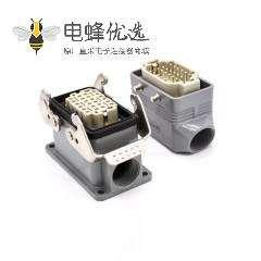 重载连接器24针H10B表面安装公母对接镀银螺钉M32