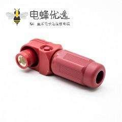 单芯防水连接器400A弯式插头塑料IP67红色14mm接线