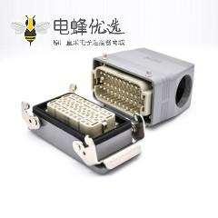 重载连接器M40铁扣公母对接40芯高结构斜出口开孔安装H16T外壳