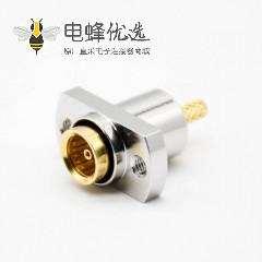 sma母头接线标准50Ω直式面板安装4孔法兰压接LMR400镀镍连接器