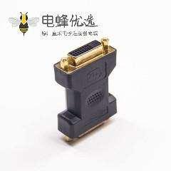 dvi-d24+1芯母头转24+1芯母头直式转接头