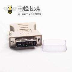 DVI接口24+5芯公头转高密度D-Sub15芯母头直式转接头