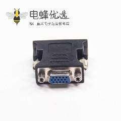 DVI转接头24+5芯公头转高密度D-Sub15芯母头直式