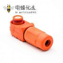 电池储能连接器120A弯式插头IP67单芯接线塑料橙色6mm