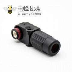 防水连接器单芯120A弯式插头6mm塑料黑色IP67接线