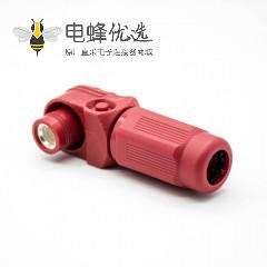单芯大电流连接器IP67弯式插头12mm单芯红色塑料350A接线