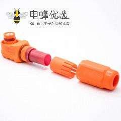 新能源储能连接器350A塑料母接头插头单芯12mm防水IP67