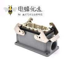 6孔重载连接器公母对接H16B螺钉M25表面安装斜出口进线