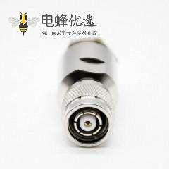 tnc公头螺母锁紧镍直式50Ω公头反极接线LMR400螺丝锁紧TNC组装接头RF连接器