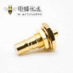 qma连接器母头标准QMA组装接头直式面板安装前锁板焊接接线178线镀镍