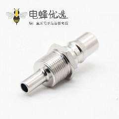 射频连接器qma母头标准接线直式焊接镀镍QMA接头接178线