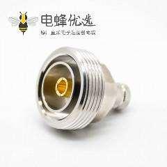 DIN型母头RF连接器DIN7-16标准50Ω镀镍直式焊接接线LMR400