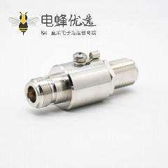 防雷器N头母转母N-KKY-1镀镍IP67直式RF同轴射频避雷器