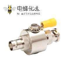 BNC防雷器IP67直式BNC公转母0-3GHzRF射频避雷器