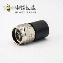 N接头公头直式避雷器黑色圆柱体同轴假负载连接器
