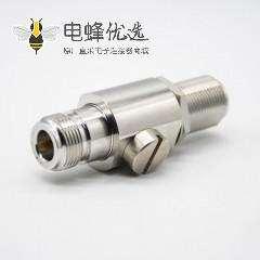 射频同轴避雷器N型公头转母头N-JKY镀镍直式IP67