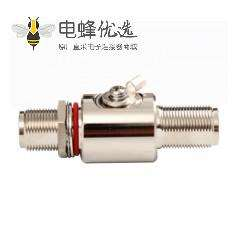 天馈避雷器N头180°,母转母IP67DC-3GHzRF射频避雷器